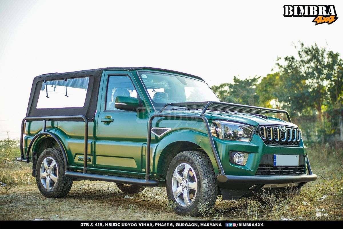 This Modified Mahindra Scorpio Into A Soft Top Pickup
