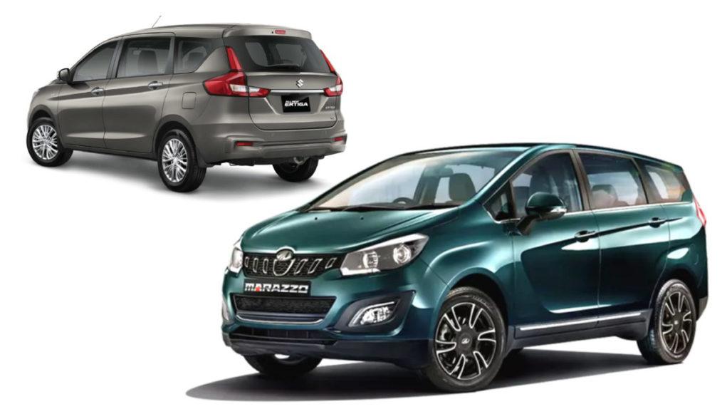 New Maruti Ertiga & Mahindra Marazzo Drive MPV Sales In India