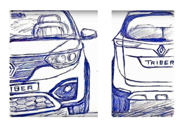 Renault Triber Design Sketch