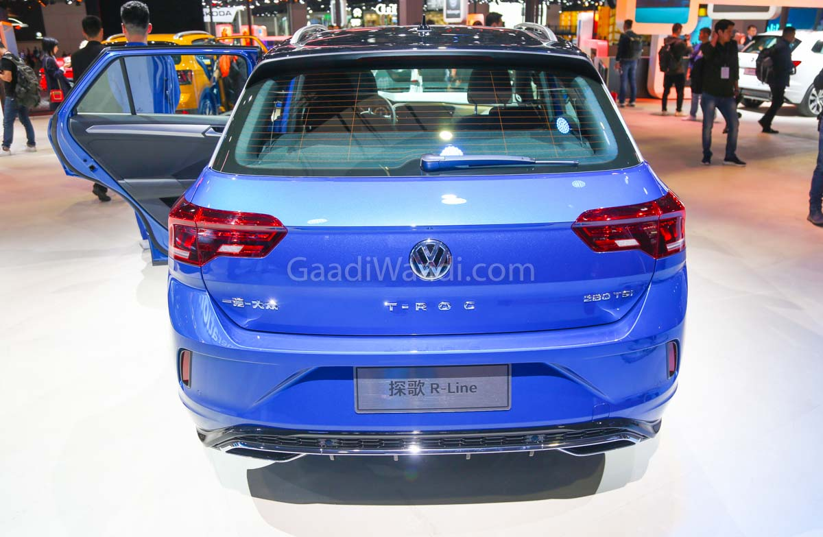 volkswagen t roc suv displayed at auto shanghai india. Black Bedroom Furniture Sets. Home Design Ideas