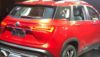 mg hector revealed rear