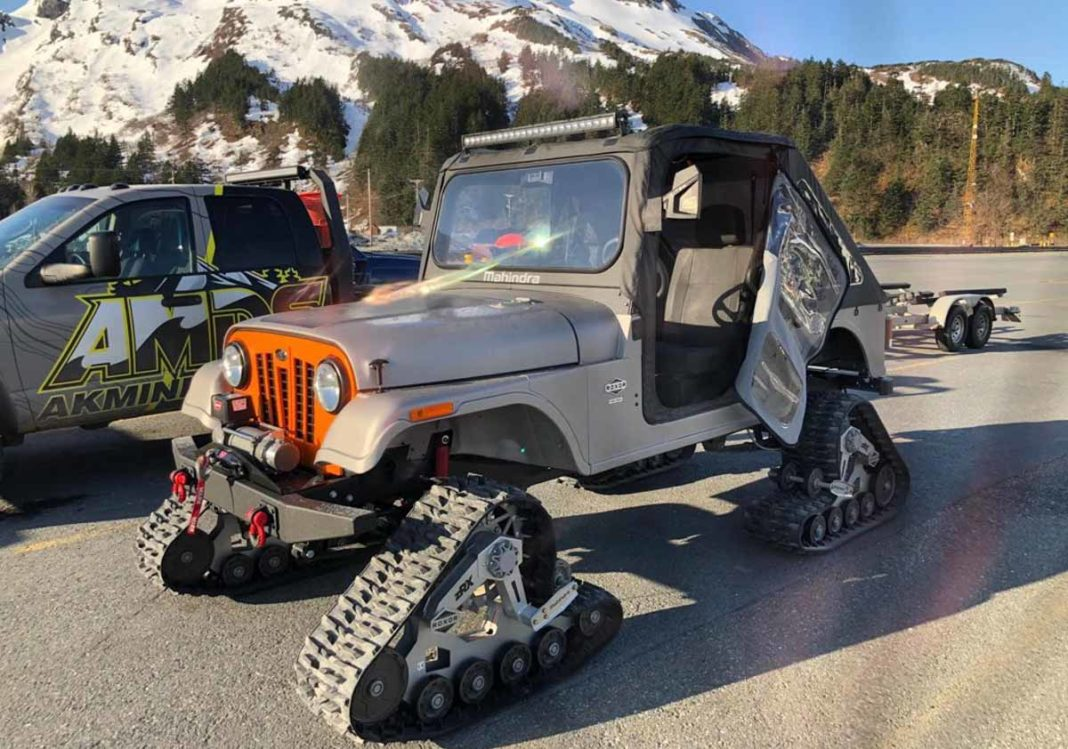 Modified Mahindra Roxor With Tank Tracks Looks Totally Badass