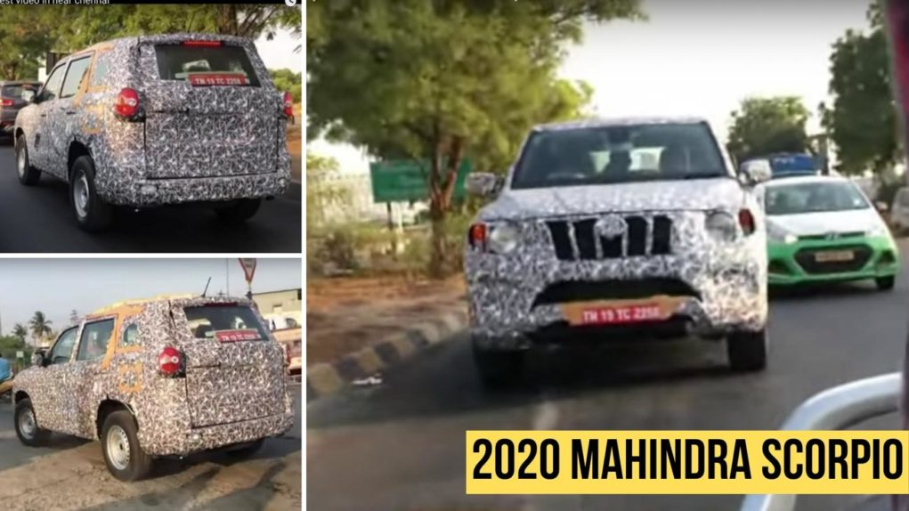 2020 mahindra scorpio spied on test-2