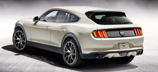 Ford Mustang Based Electric SUV Rendered;