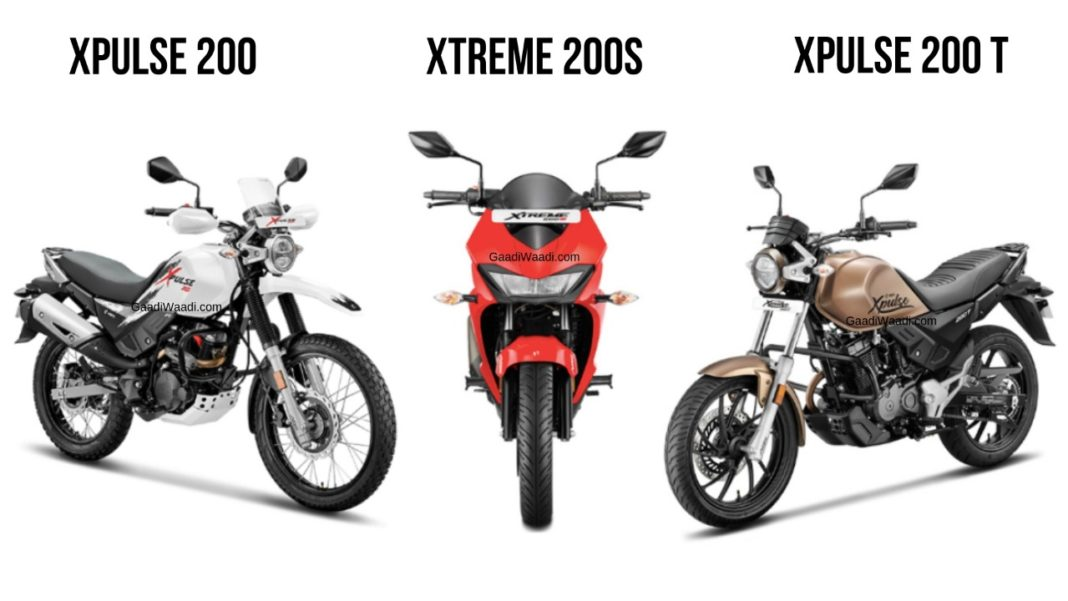 Hero Xtreme 200S Vs Hero Xpulse 200 Vs Hero Xpulse 200T 4