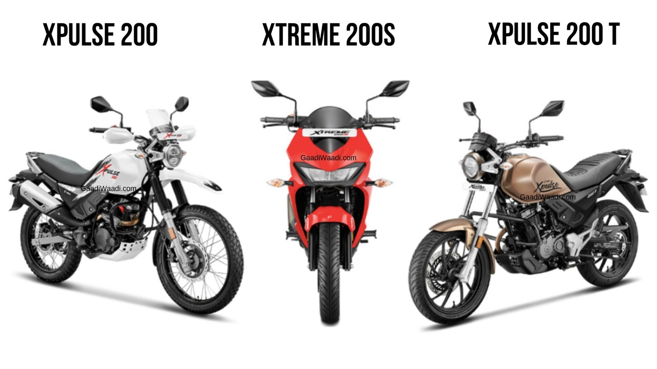 Hero Xtreme 200S Vs Xpulse 200 Vs Xpulse 200T: Spec Comparo