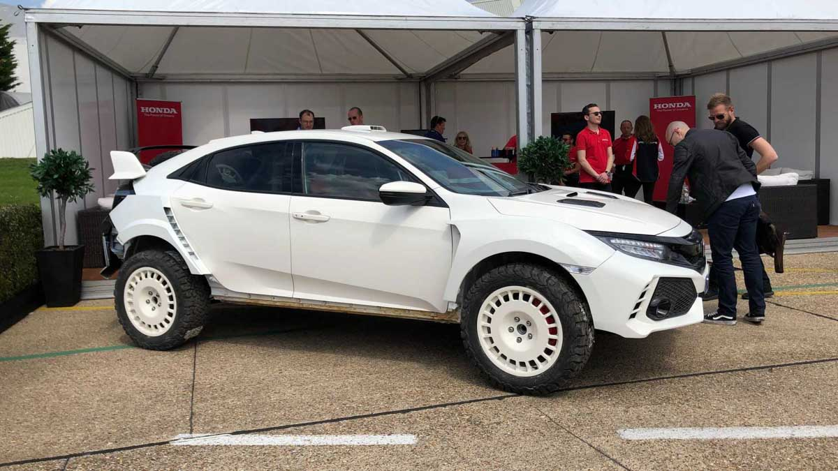 This tall Honda Civic Type R is built to go rallying