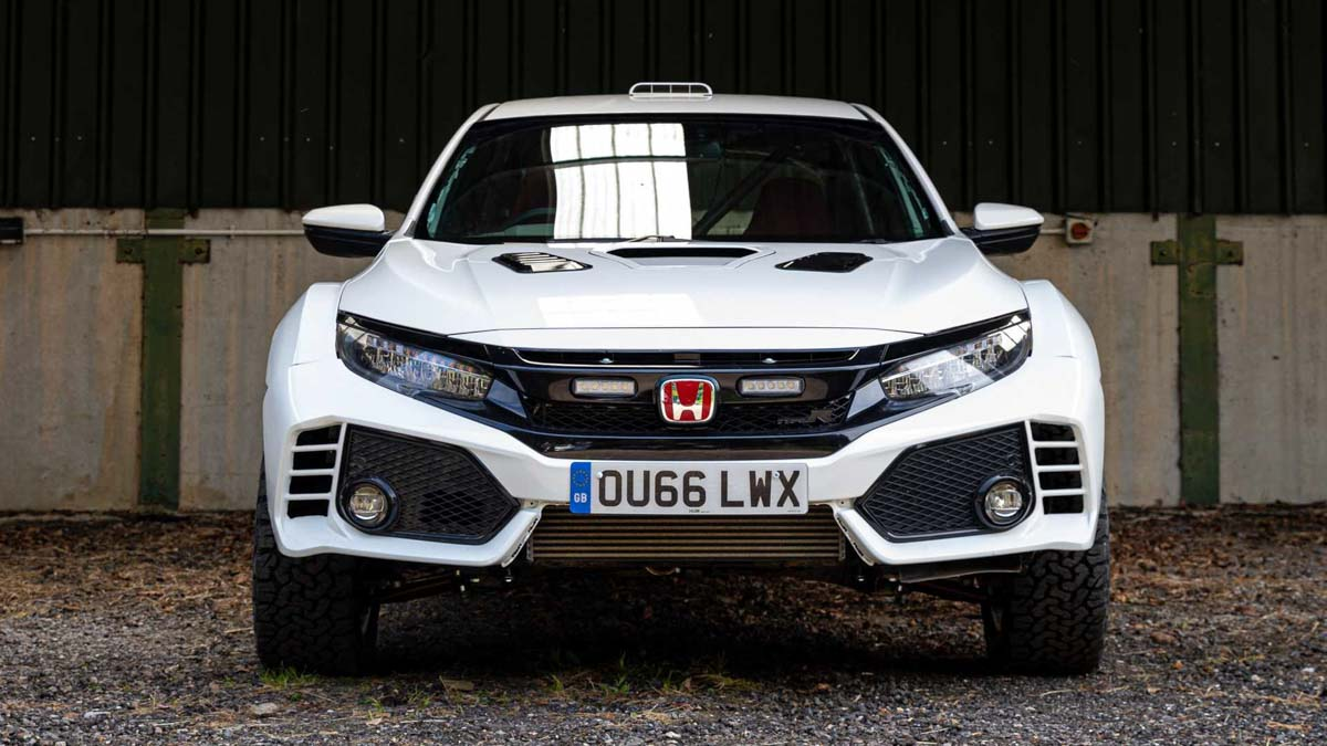 Safari-Style Honda Civic Type R Is a Rally-Ready, Overlanding Hatchback