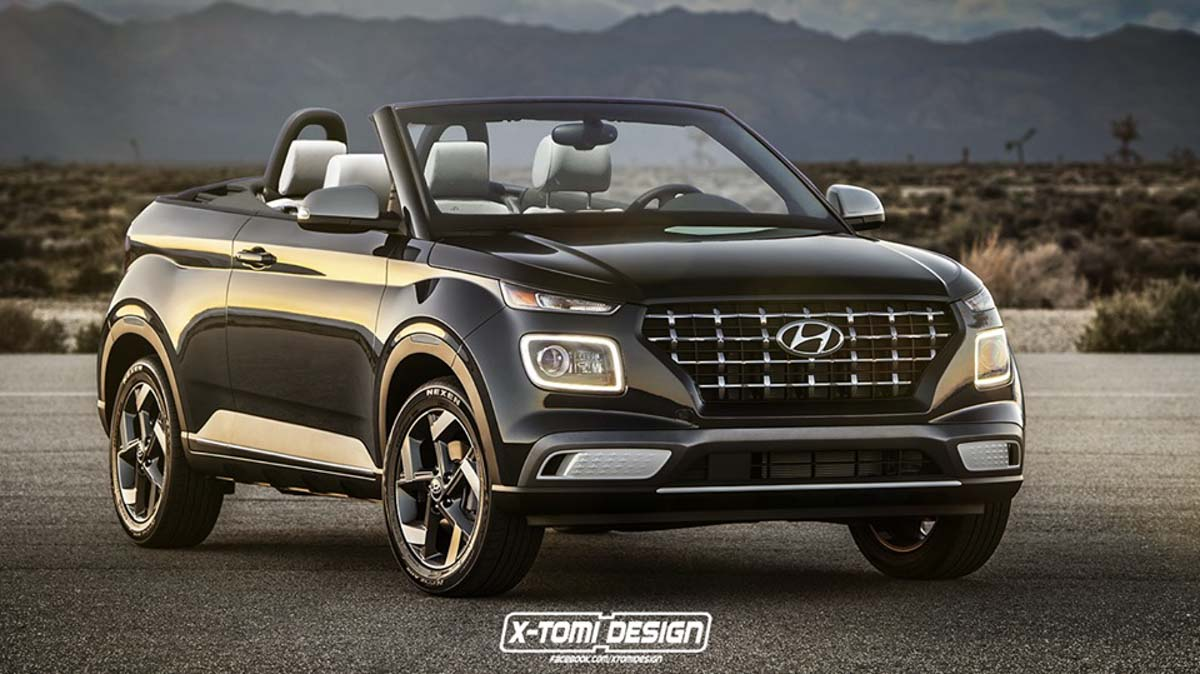 Hyundai Venue Convertible Rendering Is Strikingly Gorgeous