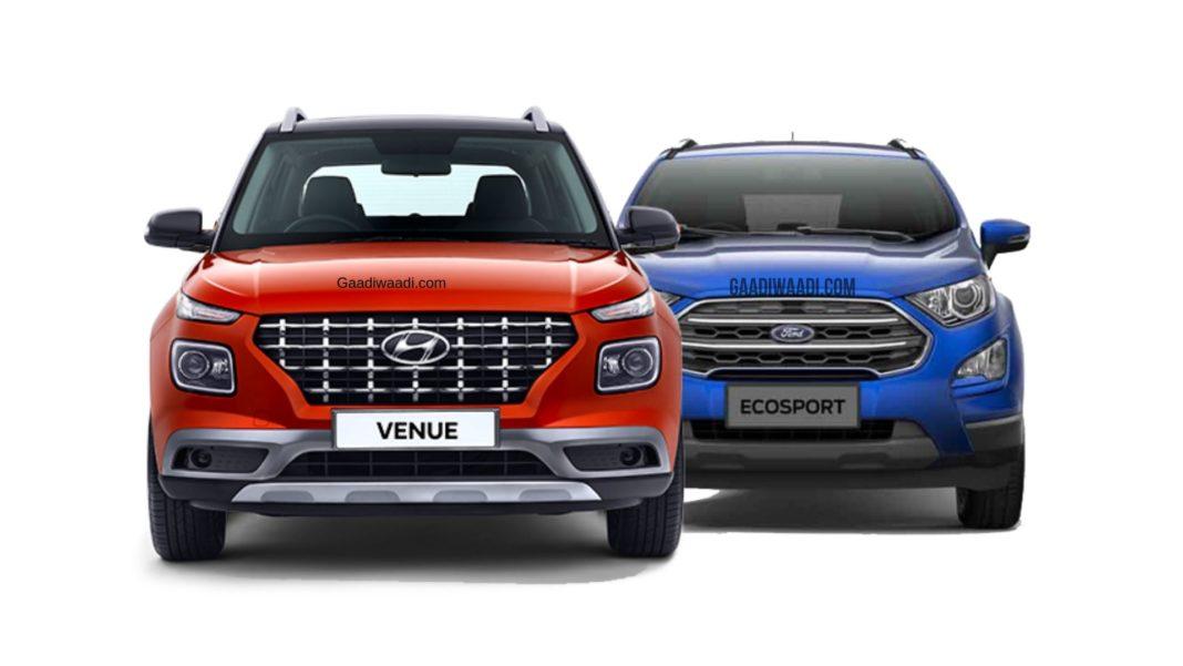 Hyundai Venue Vs Ford EcoSport - Dimension & Engine Spec Comparison 2
