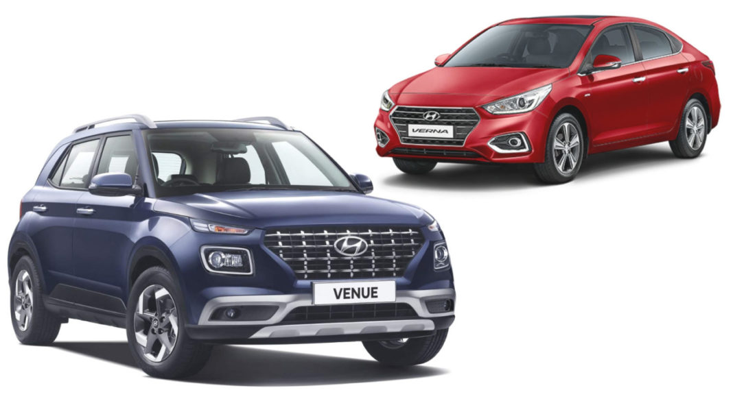 Hyundai Venue Vs Hyundai Verna Specification Comparison