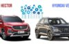 Hyundai Venue Vs MG Hector Connected Car Features Comparison