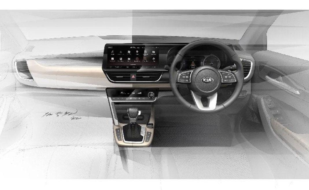 Kia SP2i Interior Design Sketch 10.25 inch touchscreen