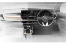 Kia SP2i Interior Design Sketch 10.25 inch touchscreen