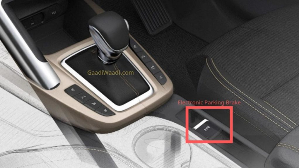 Kia SP2i electronic parking brake