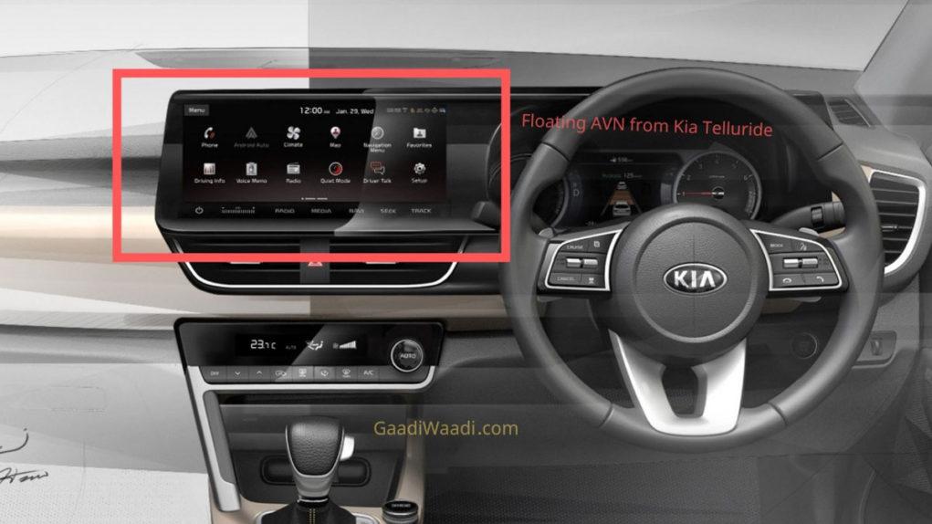 Kia SP2i touchscreen 10.25 inch