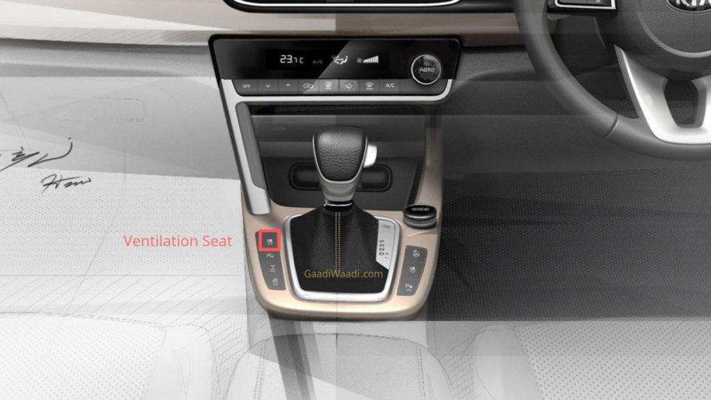 Kia SP2i ventilated seats