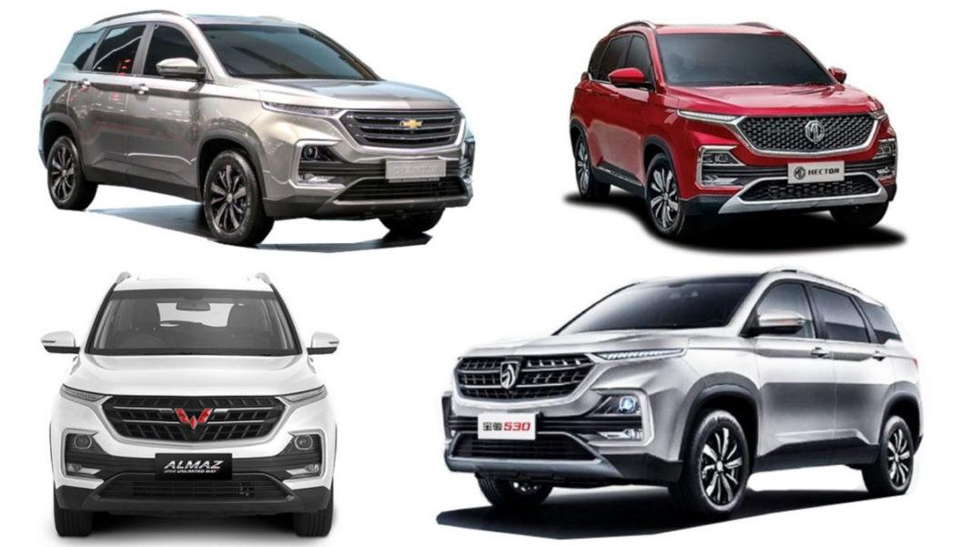 MG Hector, Chevrolet Captiva, Wuling Almaz, Baojun 530
