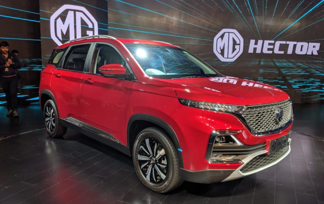 MG Hector Premium SUV red