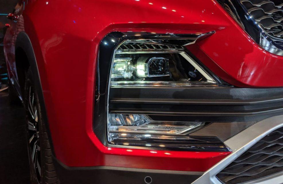 MG Hector Premium SUV red bumper