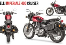 Upcoming Royal Enfield 350 Rival Benelli Imperiale 400 Cruiser Spotted In India
