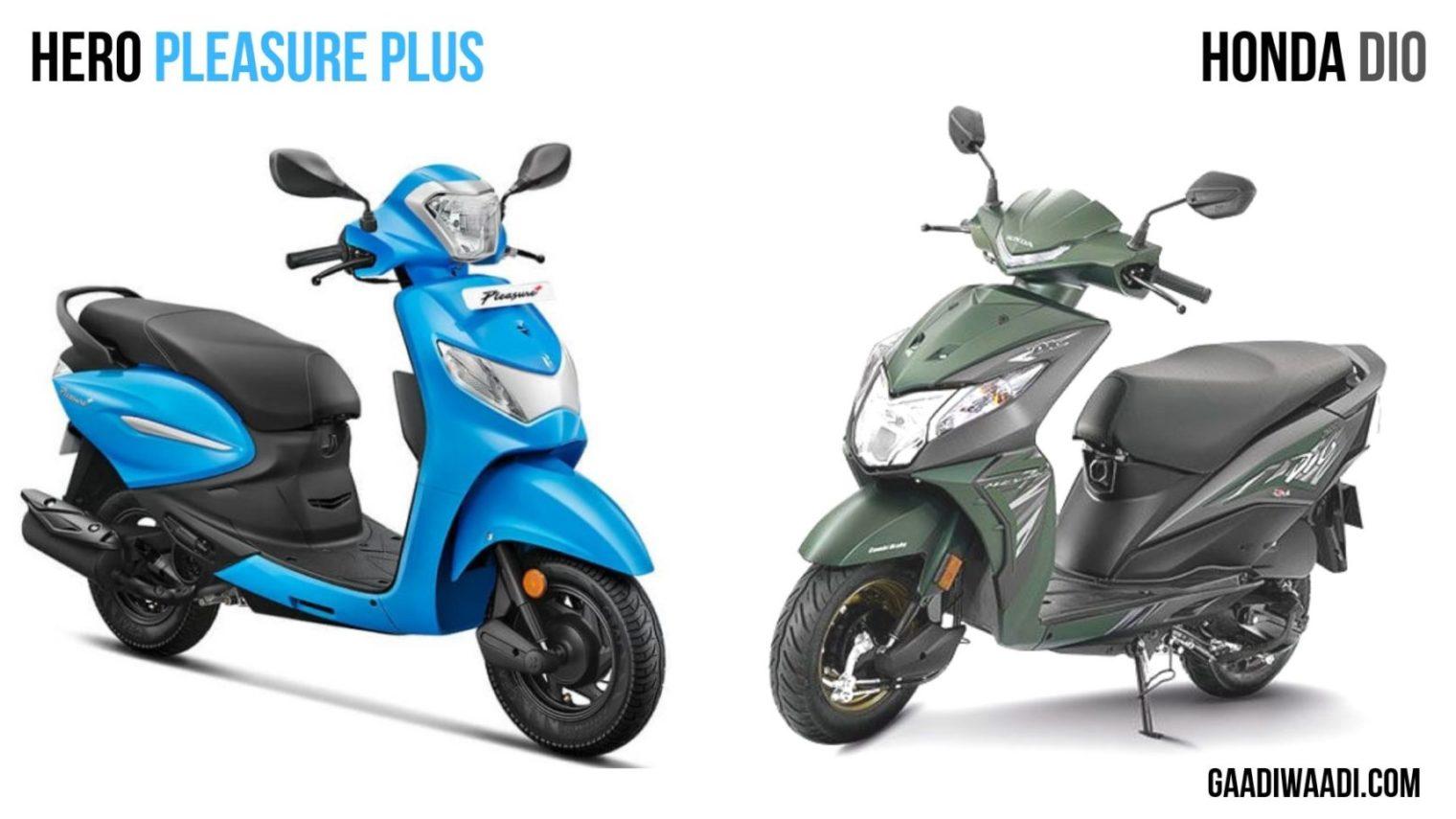 Honda Pleasure Plus Vs Honda Dio Spec Comparison