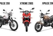 hero xpulse 200, xpulse 200t, xtreme 200s