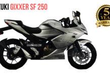 suzuki gixxer sf 250 warranty