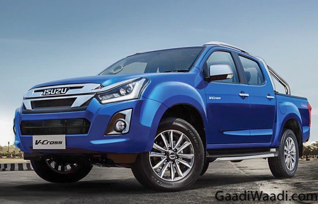 2019 Isuzu D-Max V-Cross Facelift Launched In India At Rs. 15.51 Lakh