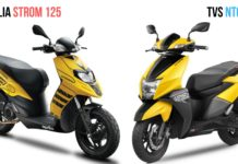Aprilia Storm 125 Vs TVS Ntorq Spec Comparison