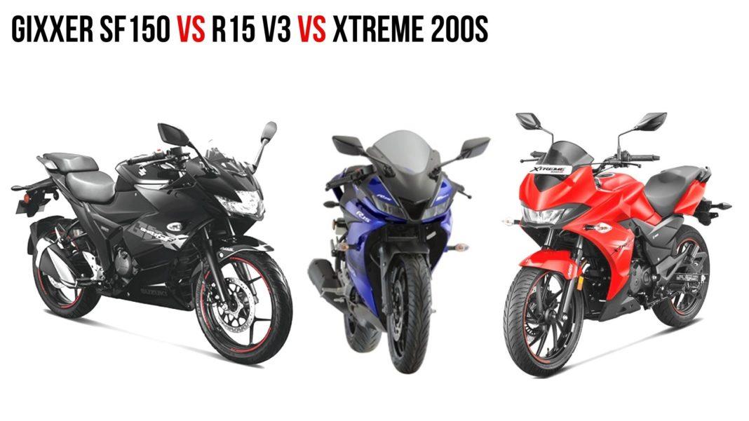 Gixxer Sf150 vs R15 v5 Vs xtreme 200s