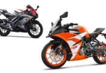 KTM RC 125 VS Yamaha YZF-R15 V3.0 1