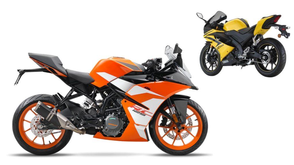 KTM RC 125 VS Yamaha YZF-R15 V3.0 2