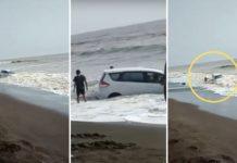 Maruti Suzuki Ertiga Swept Away by Ocean Tides Near Mumbai - Watch Video