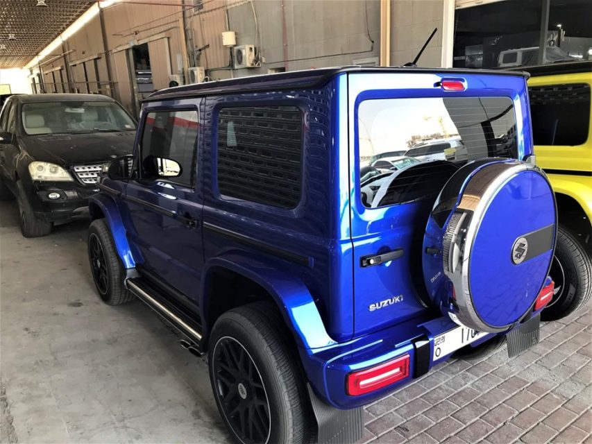 Suzuki Jimny Gets Mercedes G-Wagen Conversion Kits rear 2