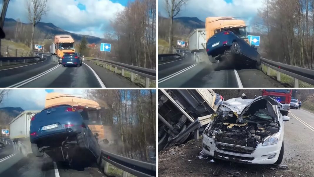 Tyre Burst Causes A Massive Head-on Accident, Dashcam Video