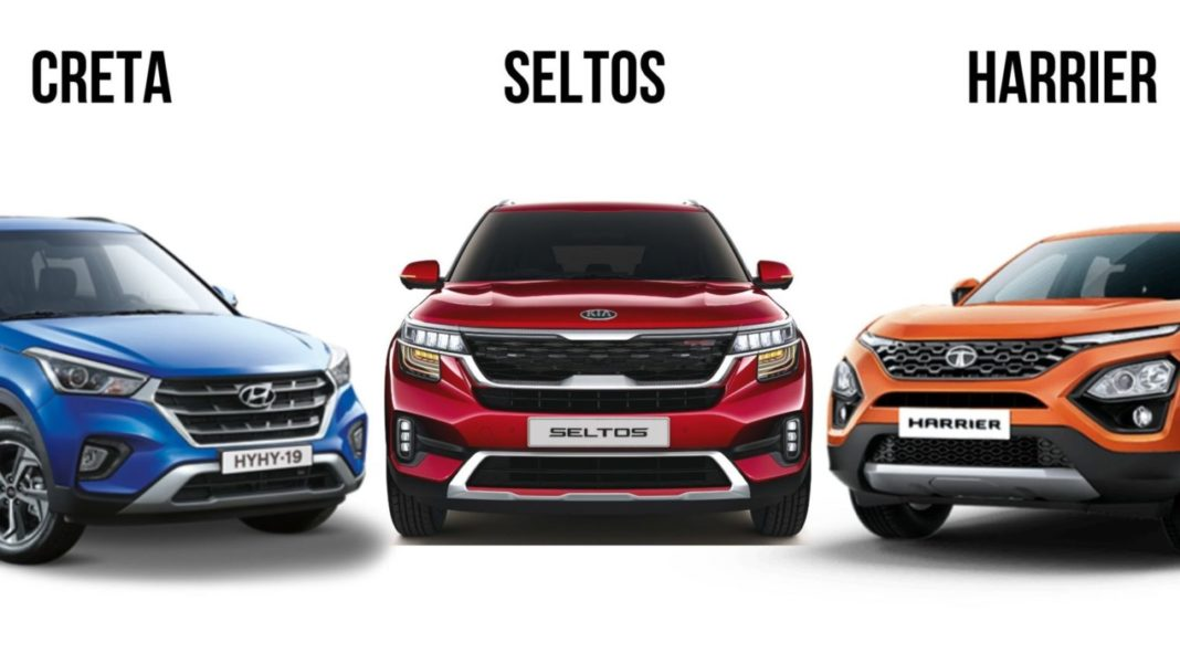creta vs harrier vs seltos