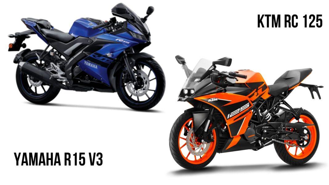 Ktm Rc 125 Vs Yamaha Yzf R15 V3 0 Specs Comparison