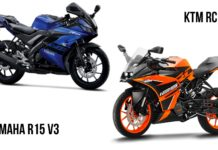 ktm rc 125 vs yamaha r15 v3 comparison
