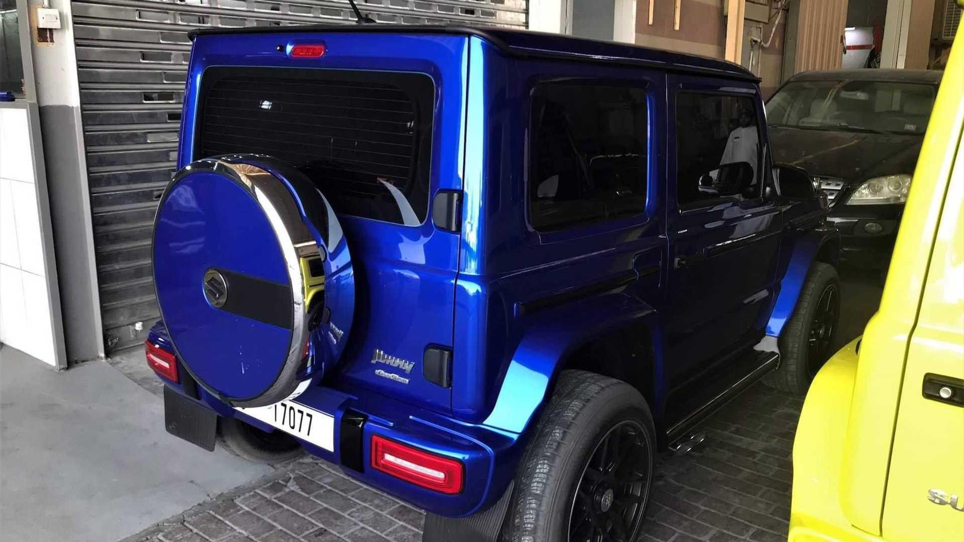 suzuki jimny gets mercedes g wagon inspired conversion kits. Black Bedroom Furniture Sets. Home Design Ideas