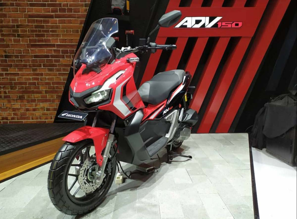all new 2019 honda x adv 150 revealed at ongoing giias. Black Bedroom Furniture Sets. Home Design Ideas