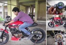 Bajaj Pulsar 180 Modified Into Sleek Looking Café Racer