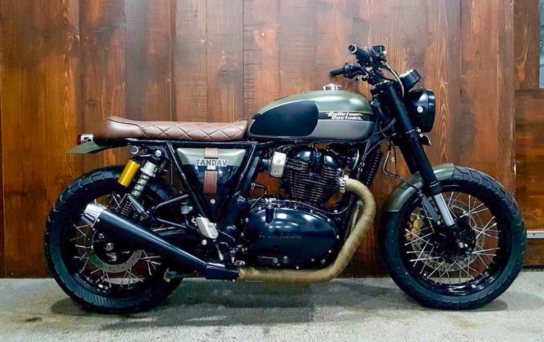 Custom RE Interceptor 650 Scrambler By Bulleteer Customs-3