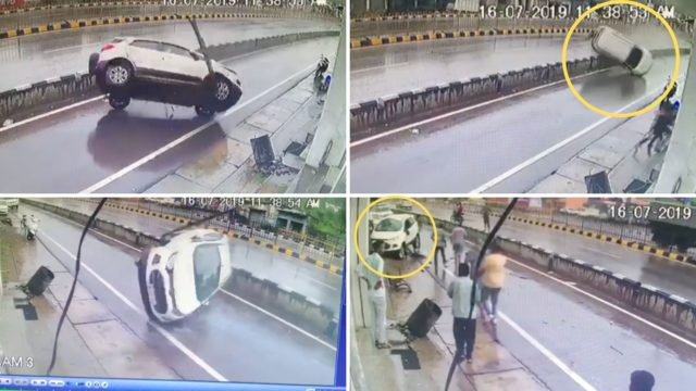 Ford EcoSport Rolls Over Multiple Times, Driver Walks Unhurt!