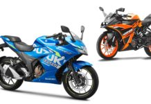KTM RC 125 Vs Suzuki Gixxer SF 150