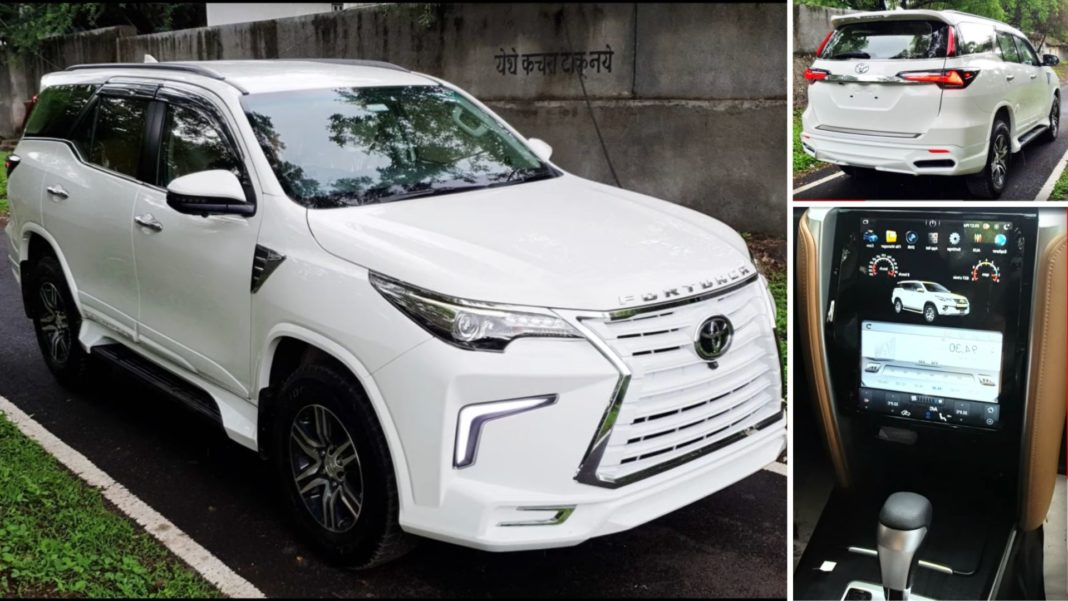 Modified Toyota Fortuner That Looks Like A Lexus