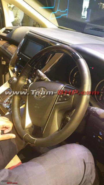 Toyota Vellfire Interior India