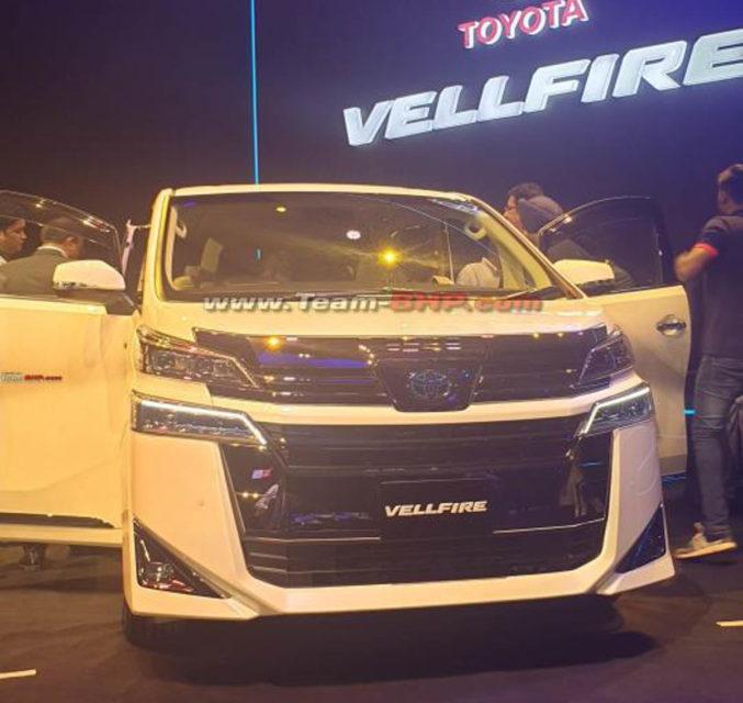 Toyota Vellfire Showcased India