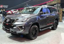 Updated Toyota Fortuner TRD Sportivo front