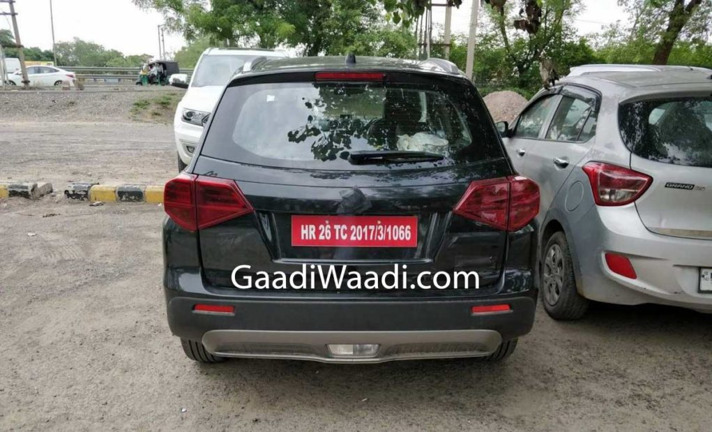 maruti suzuki Vitara 4x4 spied India rear